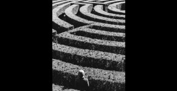 black and white maze